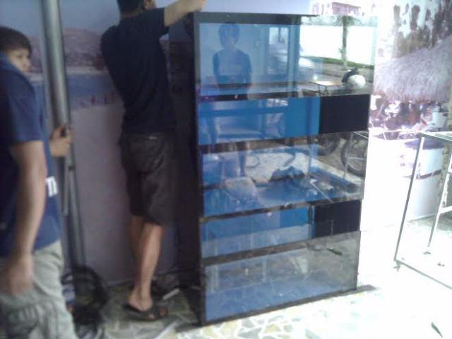 Hình ảnh dàn bể hải sản nhoe