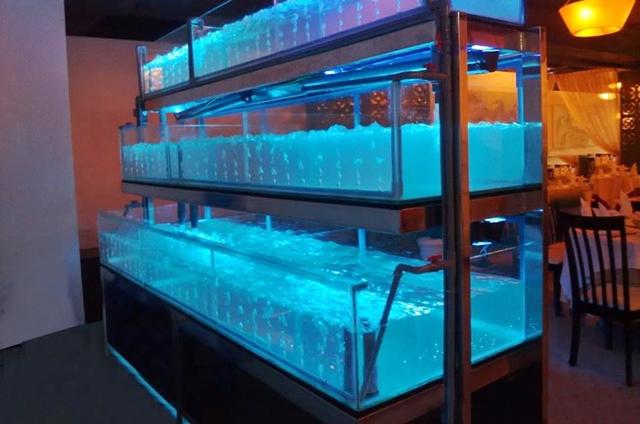 Hình ảnh dàn bể hải sản ba tầng