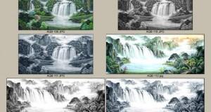 Hình ảnh tranh 3d bể cá Thủy Mặc