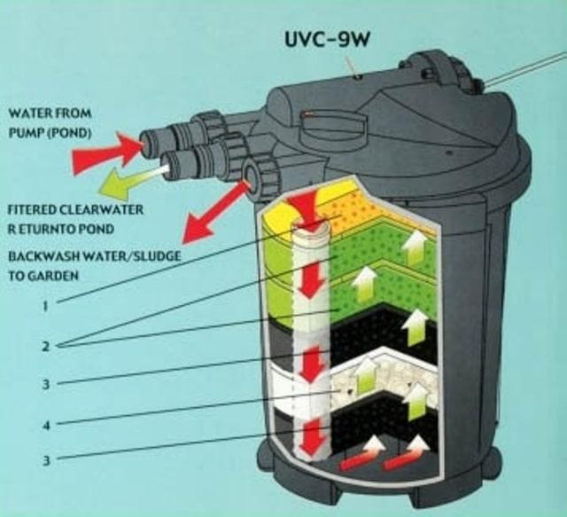 Mẫu lọc thùng hồ koi kèm UV Atman