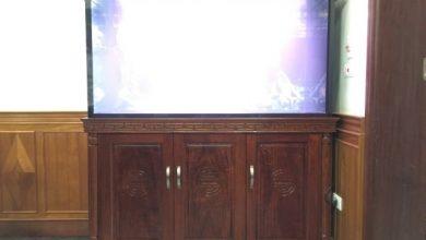 Photo of Bể cá rồng gỗ Hương mẫu cột tiện