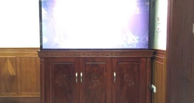 Hình ảnh Bể cá rồng gỗ hương mẫu cột tiện