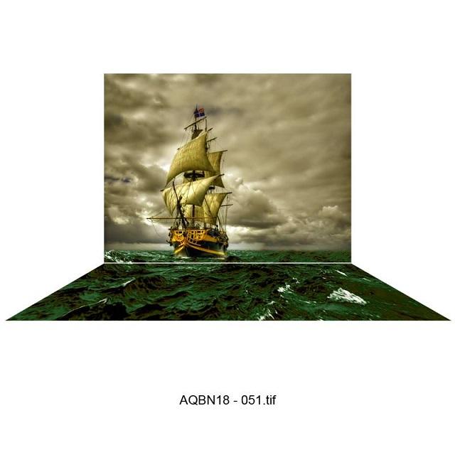 Tranh 3D Tàu Thuyền Dành cho bể cá