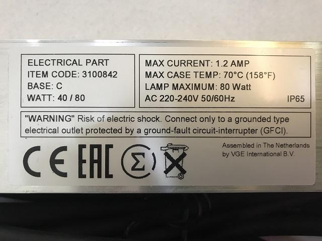 Hình ảnh Thông số đèn UV Amalgam