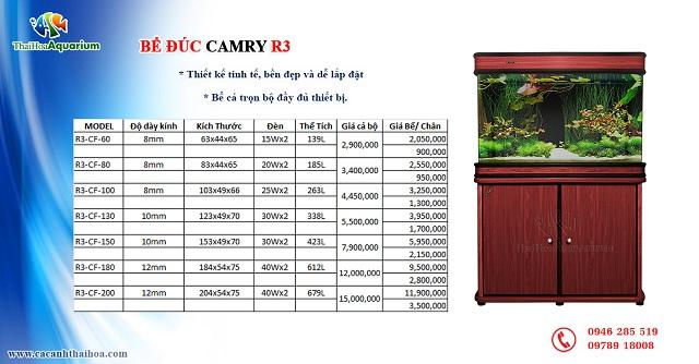 Hình ảnh Bảng giá bể cá đúc Trung Quốc Camry R3