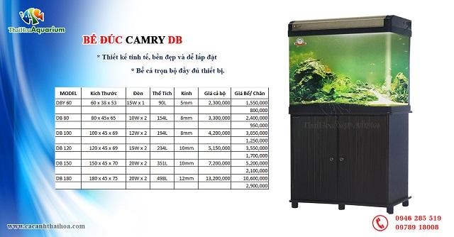 Hình ảnh Bảng giá và thông tin bể đúc camry DB