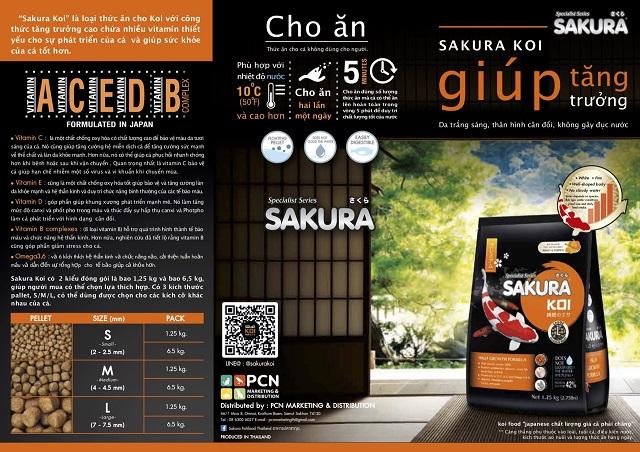 Hình ảnh Kích thước hạt thức ăn Sakura High Growth