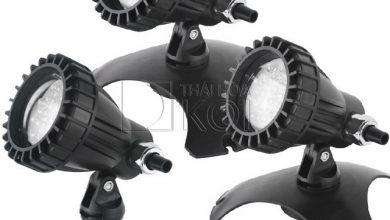 Hình ảnh 3 bộ đèn với 2 lựa chọn chân đế xoay 360 độ