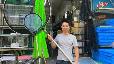 Hình ảnh Vợt Cá Koi Tròn Viền Nhôm Đặc - Cán Hợp Kim Nhôm
