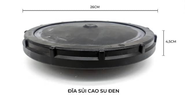 Hình ảnh Kích thước đĩa sủi cao su Jager
