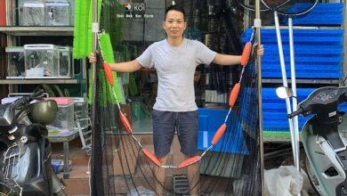 Lưới Vét Hồ Koi 3mx2m